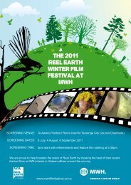 THE 2010 REEl EaRTH WinTER Film FEsTival aT mWH