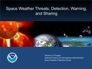 Overview of Space Weather Threat, Detection & Warning