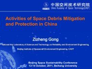 Activities of Space Debris Mitigation and Protection in China