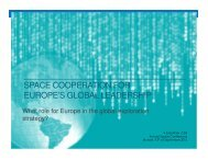 space cooperation for europe's global leadership - Secure World ...