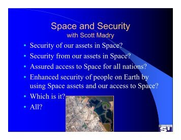 Impact of space on human and environmental security