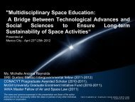 Multidisciplinary Space Education: A Bridge Between Technological ...