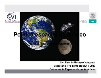 política espacial