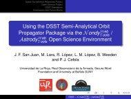 Using the DSST Semi-Analytical Orbit Propagator Package via the ...