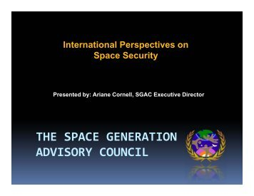 International perspectives on the definition of space security