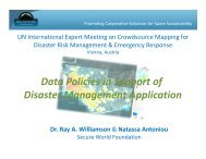 Data Policies in Support of Disaster Management Application