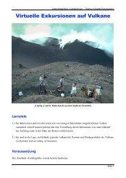 Virtuelle Exkursionen auf Vulkane - SwissEduc