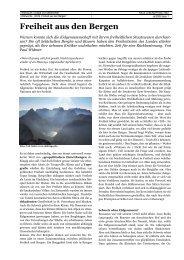 Freiheit aus den Bergen - SwissEduc