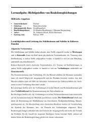 Lernaufgabe: Richtigstellen von Reaktionsgleichungen - SwissEduc