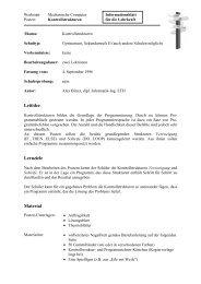 Leitidee Lernziele Material - SwissEduc