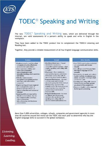 Get to Know about TOEIC Writing Format and TOEIC English Test Writing Tips