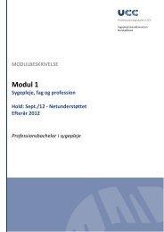 Modul 1 - Sygeplejerskeuddannelsen Nordsjælland