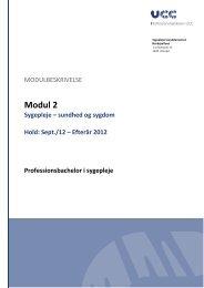 Modul 2 - Sygeplejerskeuddannelsen Nordsjælland