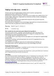 Valgfag 6 - Sygeplejerskeuddannelsen Nordsjælland
