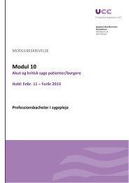 Modul 10 - Sygeplejerskeuddannelsen Nordsjælland