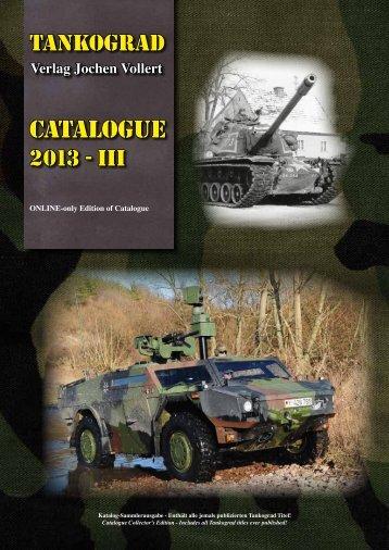 Katalog 2013 (PDF, 6.1MB) - TANKOGRAD Publishing