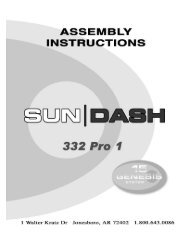 Sun|Dash 332 Pro 1 15 Minute - Tanning Bed Parts