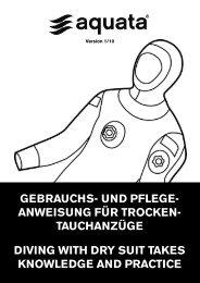 GEBRAUCHS- UND PFLEGE- ANWEISUNG FÜR TROCKEN - Aquata