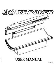 USER MANUAL - Tanning Bed Parts
