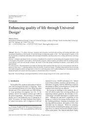Enhancing quality of life through Universal Design