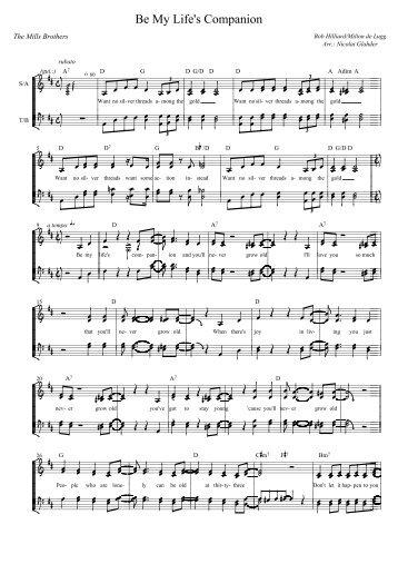 Be My Life's Companion - Nicolai Glahders musikhjemmeside