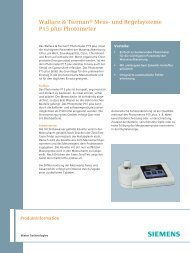 Wallace & Tiernan® Mess- und Regelsysteme P15 plus Photometer
