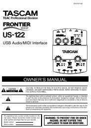 US-122 Owner's Manual - 1.21 MB - Tascam