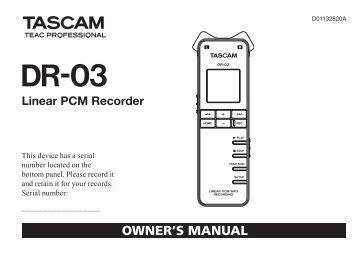 tascam dp 004 manual pdf