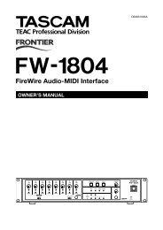 FW-1804 Manual - Tascam