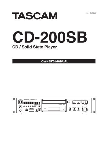 Tascam cd/sd/usb player with sd/usb dubbing.