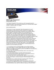 DM-24 Application-Specific Downloads Logic Template ... - Tascam