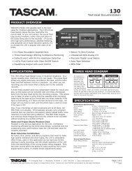 130 Technical Documentation - 463.02 KB ... - Tascam
