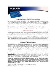 US-428 Installation and Use Notes on Keystroke Emulation - Tascam