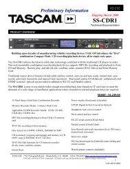 SS-CDR1 Technical Documentation - 204.65 KB - Tascam