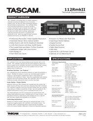 112RmkII Technical Documentation - 390.85 KB - Tascam