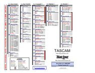 MMR-8:MMP16 Installation and Use Quick Reference Guide - Tascam