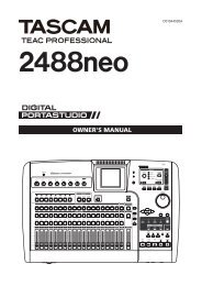 2488neo Owner's Manual - 10.38 MB | E_2488neo_web.pdf - Tascam