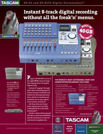 DP-01 Series Brochure - 328.68 KB | DP01_2pg.pdf - Tascam