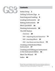 GigaStudio 3 Installation and Use: QuickStart Guide - 4.37 - Tascam