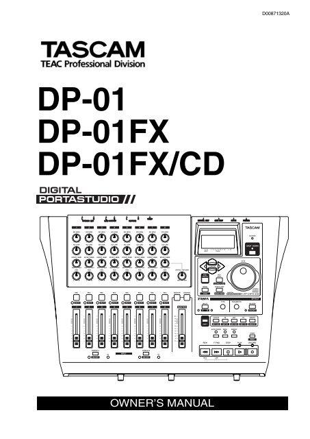 DP-01 DP-01FX DP-01FX/CD - Tascam