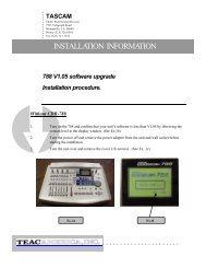 788 EPROM Update Files v. 1.05 Installation Instructions - Tascam