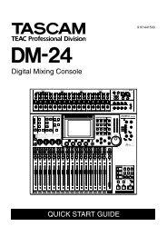 DM-24 Quick Start Guide - Tascam