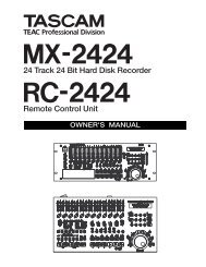 MX-2424 Installation and Use Owner's Manual - 13.93 MB - Tascam