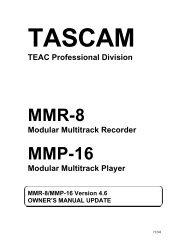 2007-07-22 03:20:50 | MMR-8:MMP-16 Manual Updates v ... - Tascam