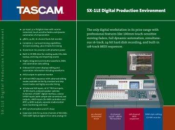 SX-1LE Digital Production Environment - Tascam