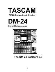 DM-24 FAQ - Tascam