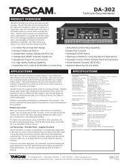 DA-302 Technical Documentation - 726.21 KB - Tascam