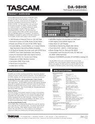 DA-98HR Technical Document - Tascam