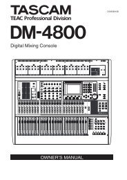 DM-4800 OWNER'S MANUAL - zZounds.com - Tascam