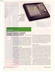 Electronic Musician July 2005 - 323.18 KB ... - Tascam